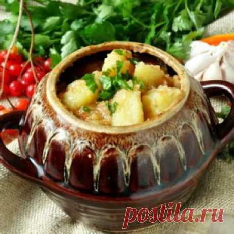 Азу в горшочках - Пошаговый рецепт с фото |  Разное Популярное татарское блюдо азу – это, по сути, жаркое с мясом и картошкой, но с обязательным добавлением соленых огурцов. Именно соленые огурцы и прид