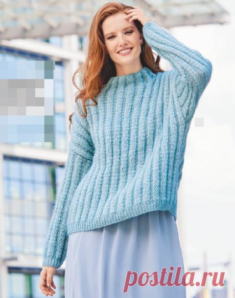 В пуловерах цвета льда особенный шарм. Схемы и описание для каждого варианта | Тепло о вязании | Яндекс Дзен