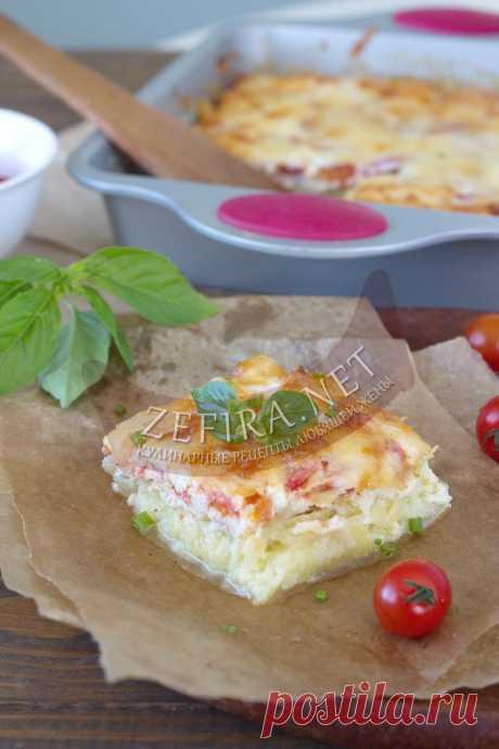 Запеканка из кабачков с фаршем и помидорами — Кулинарные рецепты любящей жены