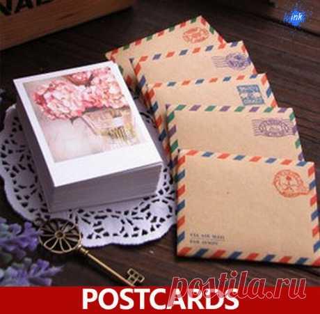 Набор: 60 открыток, 60 конвертов, 60 наклеек (AliExpress)