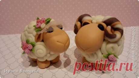 Мастер-класс по поделкам из холодного фарфора на День Валентина. Влюбленные овечки