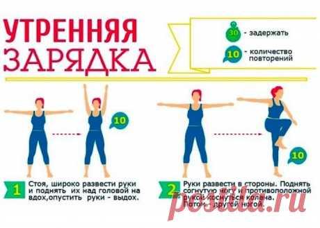 Зарядка для похудения, нормализации сна и хорошего настроения