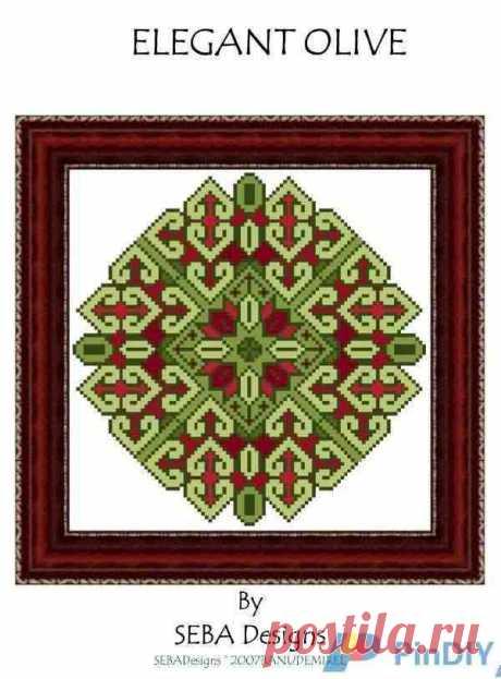 Seba Designs - Элегантная вышивка, вышивка крестом, общение / загрузка (Не могу опубликовать только в новой теме) -Сканированные схемы для вышивки крестом-PinDIY.com