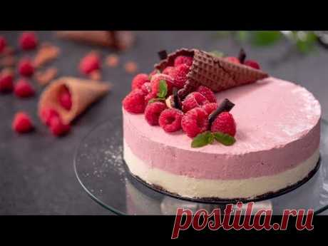 Raspberry Almond Ice Cream Cake