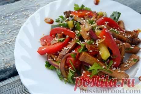 Супер салат с языком по-китайски без майонеза