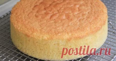 Суперпышный бисквит, который готовится без духовки.