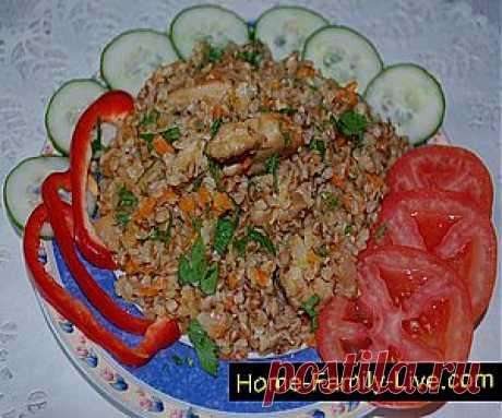Кулинарные рецепты Гречка с курицей » Кулинарные рецепты