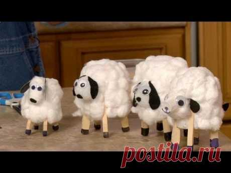 Spring into spring with this really cute kid's craft! Crafting expert Sophie Maletsky shows you how to make these cute sheep with a few household items. For ...
