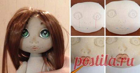 Рисуем губки текстильной кукле Год назад решила попробовать себя в создании текстильных куколок. Начальные навыки шитья и любовь к творчеству были привиты моей мамочкой, а остальному мне предстояло найчиться.