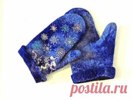 Теплые, удобные и практичные рукавички из шерсти