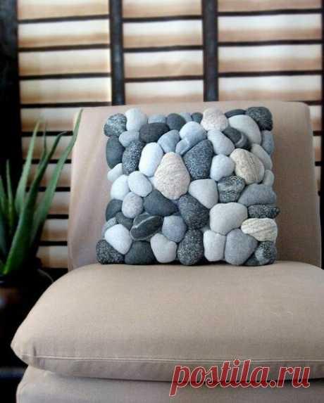 Подушка в виде мягких камней: как сшить своими руками   Самошвейка   Яндекс Дзен