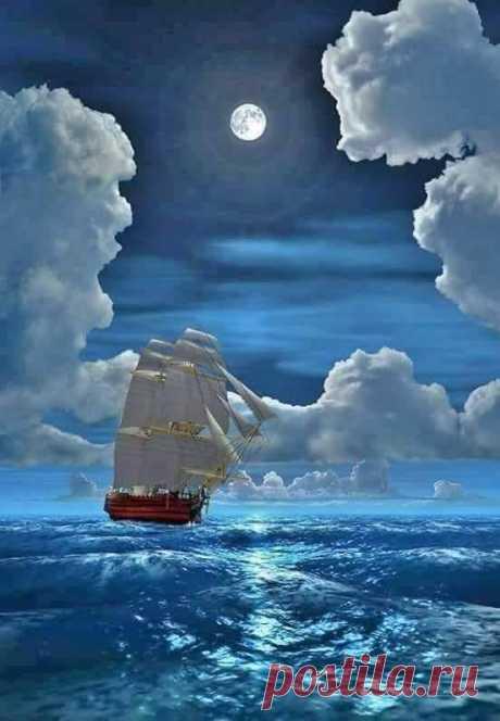 MARAVILLOSO MUNDO Buenas noches amigos !!  Partiendo hacia los sueños... sin rumbo fijo. 🌹🍁🌹