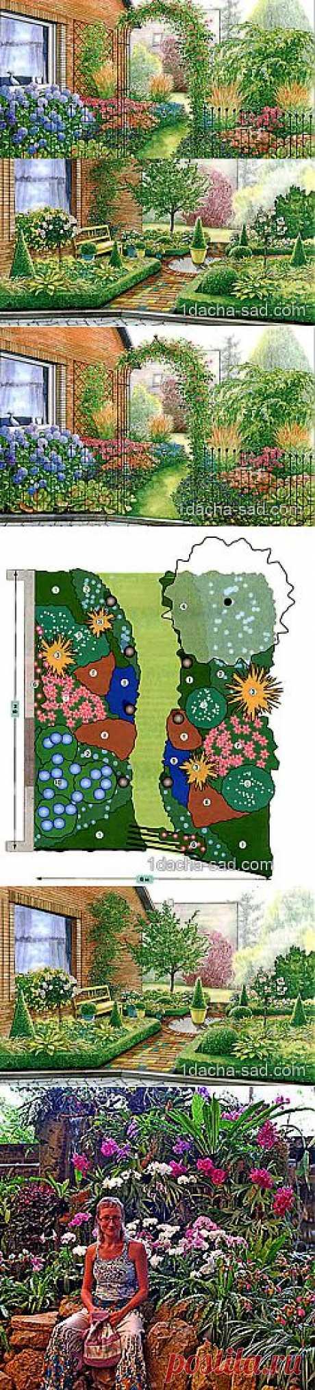 Дизайн палисадника перед домом — два весенних варианта | Дачный дизайн