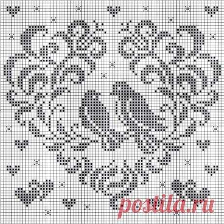 Сердечки - запись пользователя Veselka (Василина - на Ты) в сообществе Вышивка в категории Схемы вышивки крестом, вышивка крестиком