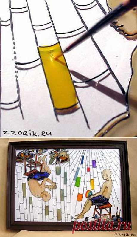 Мастер-класс - рисунки на стекле