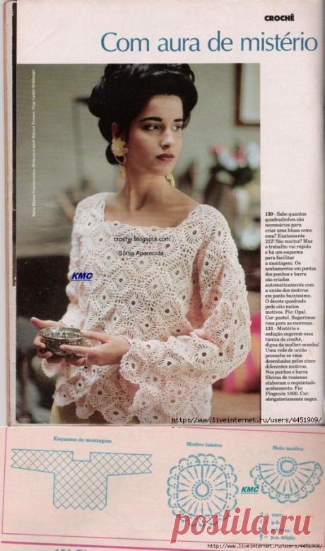 Две модели пуловера из старого журнала