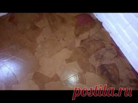 """Very cheap \""""stone\"""" floor from paper"""