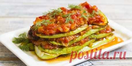 Диетическая закуска из кабачков с помидорами - Советы для тебя