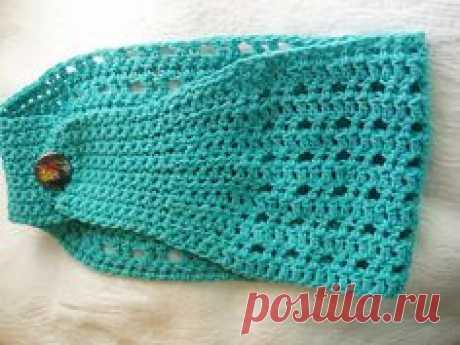 Crochet Headband Повязка на голову связанная крючком