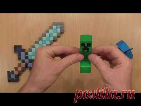 Крипер из бумаги майнкрафт, Minecraft paper creeper