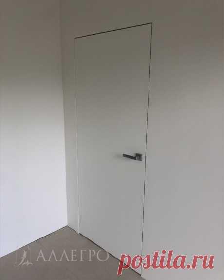 Дверь невидимка Аллегро с деревянной скрытой коробкой - Фото инструкция и советы по монтажу