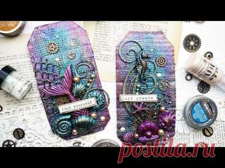 Mixed Media Tags for the Dusty Attic