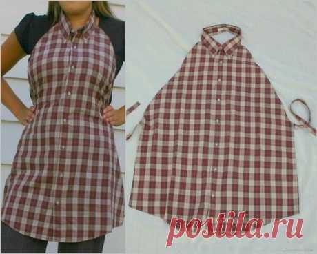 We do an apron of an old shirt