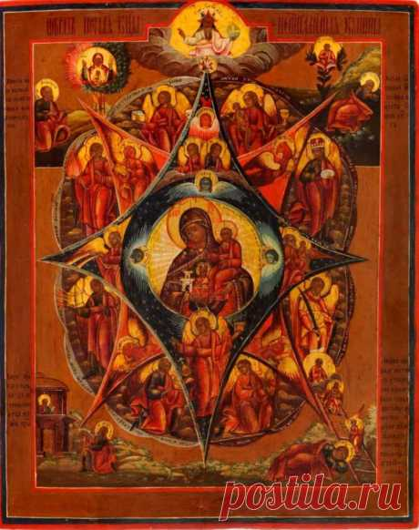"""ON SEPTEMBER 17 THE HOLIDAY OF THE ICON OF THE MOTHER OF GOD CALLED \""""BURNING BUSH\"""" IS CELEBRATED. \u000aIcon of the Mother of God \""""Burning bush\"""" (on September 4\/17).\u000aThis day the holiday of an icon of the Mother of God called \""""Burning bush\"""" is celebrated.\u000aAccording to the legend, in the form of the burning, but not burning down thorny …"""