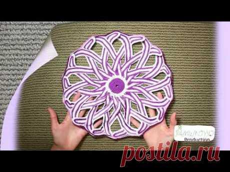 Мандала #3 СИРЕНЕВАЯ -  Free style mandala # 3 crochet