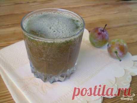 Зеленый коктейль со сливой - пошаговый рецепт с фото на Повар.ру
