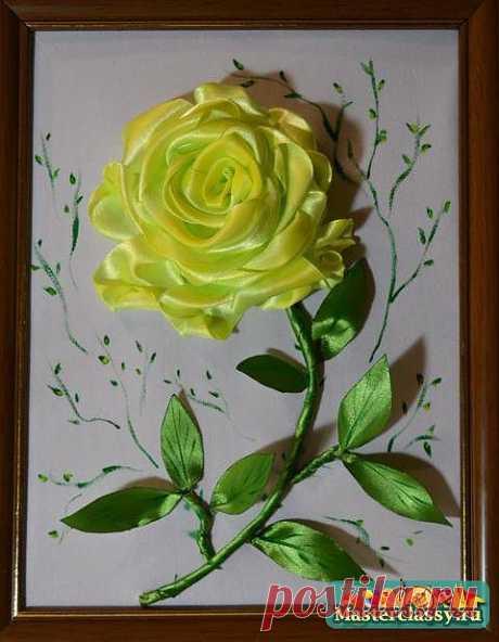 Роза из лент. Как сделать розу из лент. Мастер класс с пошаговыми фото