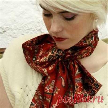 Как красиво завязать шарф или платок | Мир женщины