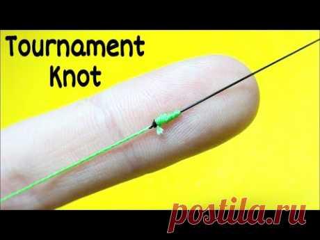 Соединительный узел tournament knot. Как связать леску между собой. Лайфхаки и самоделки для рыбалки - YouTube