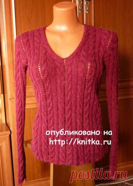 Страница 4 рубрики Пуловер спицами