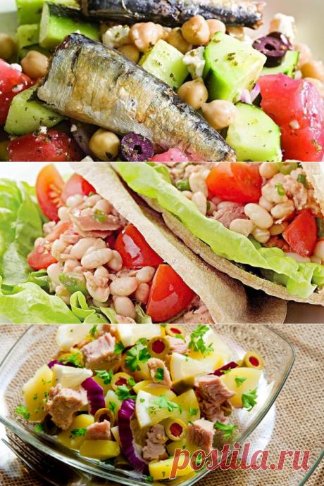 Нет «Мимозе»: 4 необычных и простых салата с рыбой - Лайфхакер