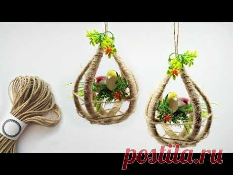 Birds Hanging | Wall Hanging Craft Ideas | Crafts Junction
