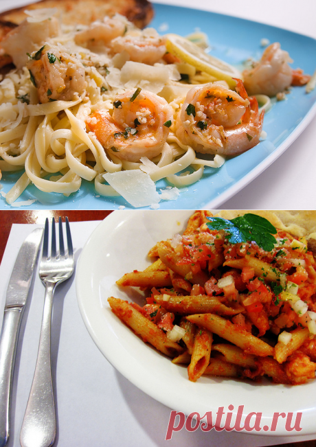 Паста с креветками: 2 идеальных рецепта — Вкусные рецепты