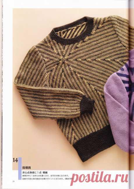 Японский журнал по радиальному вязанию спицами