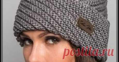 Как связать шапку спицами с диагональной резинкой Вязание спицами шапок с диагональным узором с пояснениями для начинающих
