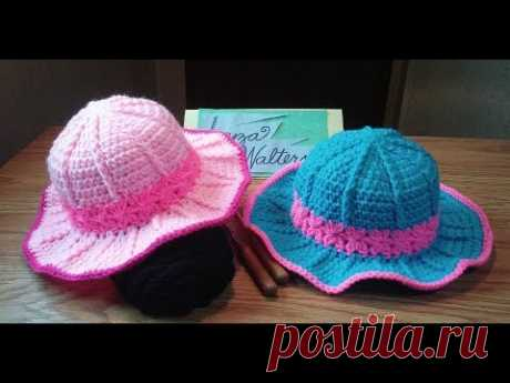 Crochet Pretty in pink sun hat part 1
