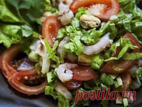 Рецепт Японский салат с морепродуктами