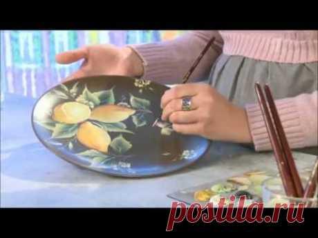 One Stroke Painting. Lemons. - YouTube
