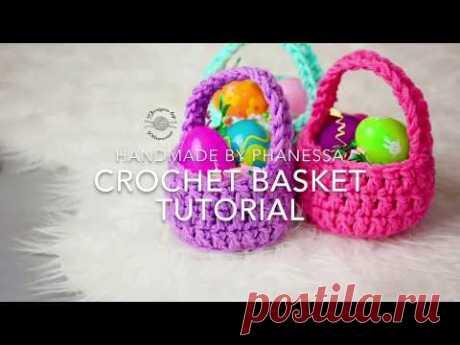 Crochet Mini Basket Pattern & Tutorial