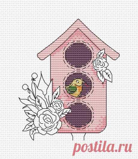 Hola Ahora estoy trabajando en un borrador de varias casas de pájaros.  Existe la idea de pedir tallos de madera en palos largos) para que pueda decorar macetas o macizos de flores.  Como te gusta  Hasta ahora, este es solo el primer borrador)  ¡Veremos cómo las casas de pájaros se transformarán al final!