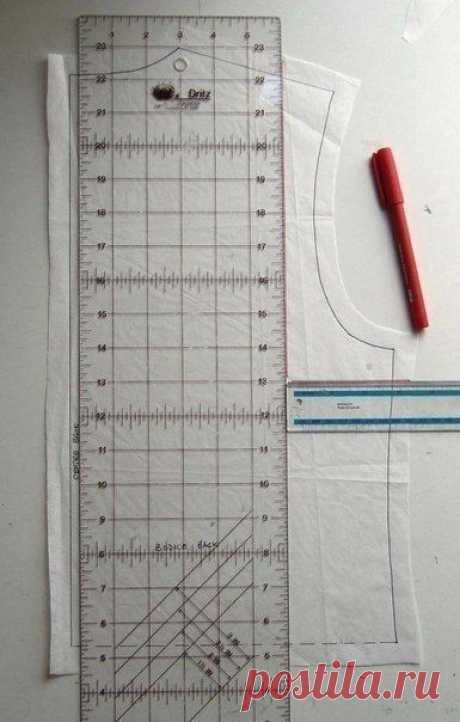 Корректировка выкройки при уменьшении плечевого шва: мастер-класс