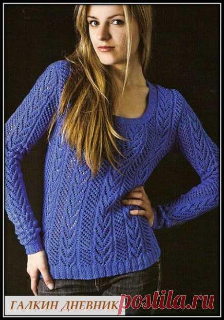 ГАЛКИН ДНЕВНИК - схемы вязания: Женский пуловер спицами