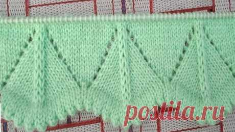 Latest and new knitting border design#30 for ladies /kids sweater, Cardigan, jacket, hineck, kurti.
