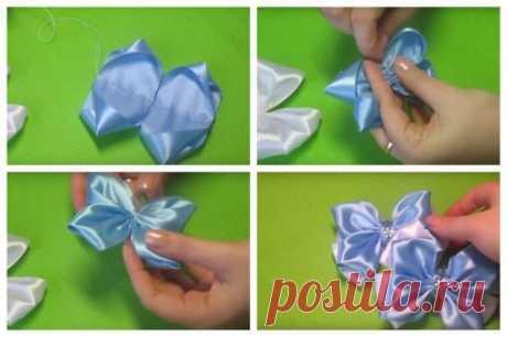 Резинки для волос канзаши (43 фото): необычные резиночки из ленты на гульку своими руками и школьные резинки для маленьких девочек, мастер-классы