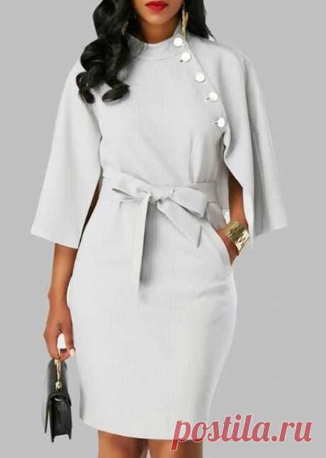 Интересная модель платья. Как вам?