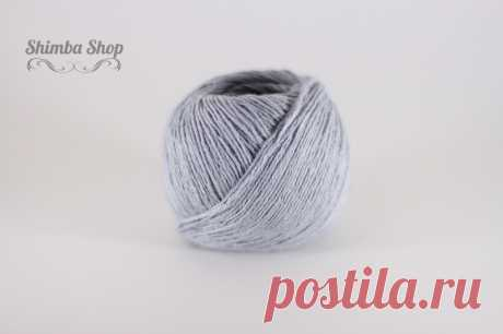 Linen 100 (03) (Linen) - a summer yarn from Italy from Seam (Seam) of:100% flax, color - gray, thickness-3.5mm, weight-50g, length-125m, 195 rub, spring-summer